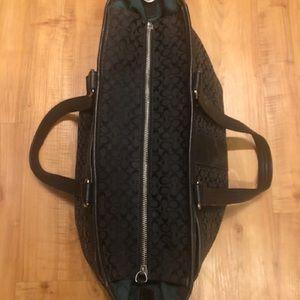 Used Black Coach Diaper bag